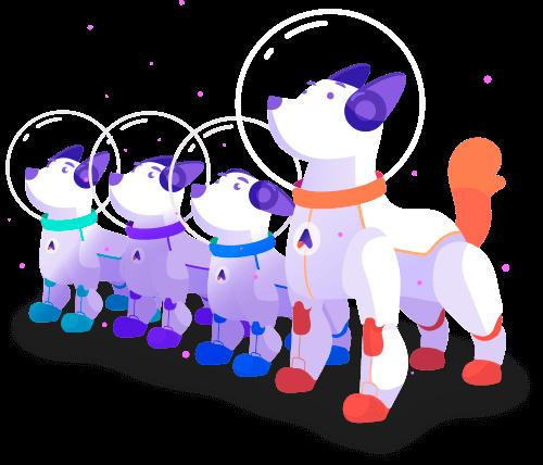 Avo Mascot Family Illustration